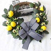 Декоративные цветы Лимонный венок украшения хризантемы венки фестиваля украшения стены двери вешалки оптом HWF7270