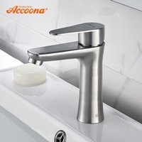 Bathroom Sink Faucets Accoona Basin Mixers Tap Stainless Steel 304 Faucet Contemporary Modern And Cold Water A9690