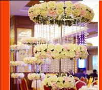 30M Acryl Kristallperlen Klar Diamant Hochzeit Party Home Girlande Kronleuchter Vorhang Dekorationen Tischstückstücke Dekoration JU0470