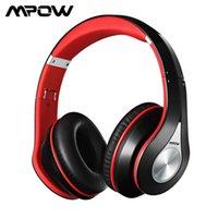 MPOW BH059 무선 블루투스 헤드폰 소음 취소 13 시간 재생 시간 새로운 헤드폰으로 내장 된 마이크 접이식 헤드셋