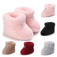 Baby Shoes First Walkers Newborn Shoe Girls Boys Boot Infant Footwear Moccasins Soft Toddler Wear Winter Casual Keep Warm Snow Boots Fur 0-1T B8754