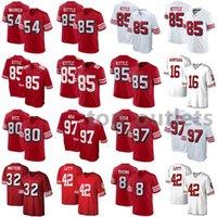 2021 49ers американских футбольных трикотажных изделий Фред 54 Warner Jersey George 85 Kittle Jerry 80 Rice Joe 16 Montana Nick 97 Bosa Ricky 32 Watters