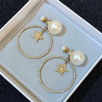 Fashion Womens Big Circle Simple Earrings Hoop Earring For Woman High Quality Luxurys Designers Earrings Brands Gold Ear Stud 21072701ZY