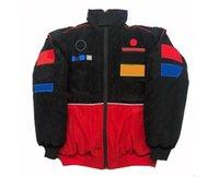 F1 Racing Costume Veste de style européen et américain, uniforme de l'équipe d'hiver de la locomotive rétro, une broderie complète