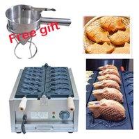 Gıda İşleme Ekipmanları Ücretsiz Elektrikli 110 V 220 V Taiyaki Waffle Izgara Balık Şekli Maker {Kategori}
