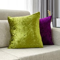 Cushion Decorative Pillow Cover Velvet Case 45x45cm For Living Room Sofa Decorative Pillows Home Decor Housse De Coussin Yellow Green Blue
