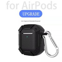 Wireless Bluetooth Earphone Case For Apple Airpods 1 2 PU Headphone Earbud Protective Cover Bag With Retail Box