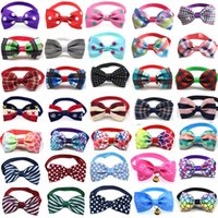 Dog Apparel Wholesale 100pcs Pet Cat Bowties Collar Bows Puppy Ties Bow Tie Neckties Samll -dog Grooming Supplies