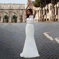 Lace Dresses Mermaid Detachable Tail Ruffles Dubai Arabic Gowns Boho Plus Size Wedding Dress