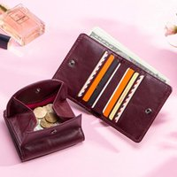 Wallets Women's Wallet Female Genuine Leather Card Holder Small Minimalist Womens And Purses Key Organizer Mini Passport Cover