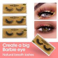 VENDA DE VENDA 3D Eyelash Eyelash Maquiagem Maquiagem Mink Falso cílios Soft Natural Espesso Eyelashes Falsoso Cílios Extensão Ferramentas de Beleza 20 Estilos