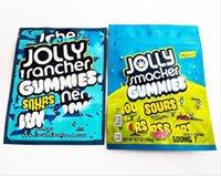 Jolly Rancher Gummies Çanta Sweetarts Ekşi Kitaplar Mylar Fermuar ile Notch 600mg Plastik Ambalaj Torbaları Koku