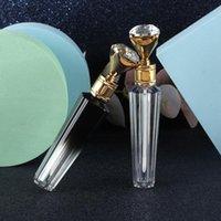5 unids 3 ml tapa de diamante plástico labio brillante tubo de bricolaje botella vacío cosmético contenedor herramienta maquillaje organizador almacenamiento botellas frascos