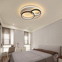 Ceiling Lights Bedroom Simple Modern Creative Warm Romantic Household Room Black, White And Gray Style Nordic Led Lamp