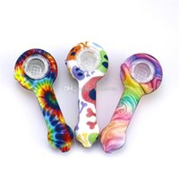 Silicone Pipe hand smoking accessories glass water pipes Colorful Bong Food-grade silica gel