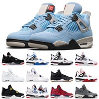 Nike air jordan 4 University Blue Fired Red Basketball Shoes 4s Cool Grey Bred Flight Nostalgia Royalty Mens Sneakers Sports Tamaño 7-12US
