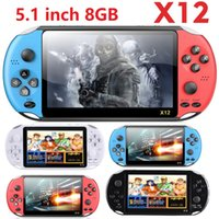 X12 Handheld Game Players 8GB Portable Video Game Consoles with 5.1 inch Color Screen Support TF Card 32gb MP3 MP4 Player Unisex