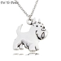 Fei Ye Paws Cute Aberdeen Scottish Terrier Dog Charms Pendant Necklace Choker Animal Pet Women Stainless Steel Chain Chains
