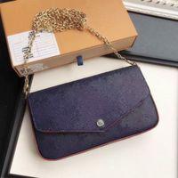 Frauen Luxurys Handtaschen 2021 3 Stück Set Kette Umhängetasche Designer Crossbody Taschen Stil Womens Handtasche und Geldbörse