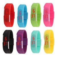 Wristwatches Fashion Children's Watch Led Sports Men's And Women's Watches For Boys Girls Digital Electr Gift