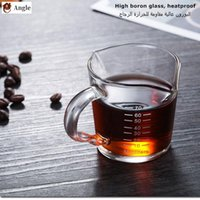 Wine Glasses Heat-resistant Glass Measuring Cup Jigger For Espresso Coffee Double-mouthed Ounce 70ml Small Milk With Scale