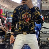 Erkek T-Shirt Camiseta Masculina COM Cabeça de Tigre, Alta Qualida, Moda, Manga Longa, Tendência Luxo, Camiseta Homens Wqim