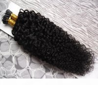 """Mongolian kinky curly hair 100pc Fusion Hair I Tip Stick Tip Keratin Machine Made Remy Pre Bonded Human Hair Extension 16"""" 20"""" 24&"""
