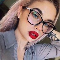 Moda occhiali da sole Cornici Trending Get Oversize Get Occhiali da vista Trasparente Eyeglasses Coreano Sexy Celebs famoso prescrizione ottica