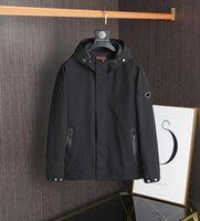 21ss homens windbreaker marca casual jaqueta retro de alta qualidade importado misturar bolso impermeável zíper design outono e inverno hoodie