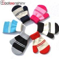 Balleenshiny зимние теплые перчатки для детей в возрасте 1-4 5 цветов утолщенные дети теплые перчатки детские варежки для мальчиков девушек
