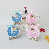 Baby Trolley Style Candy Boxes Boy Girl 1st First One Year Old 2nd 3rd 4th Birthday Party Favor Gift Chocolate Decorations Wrap