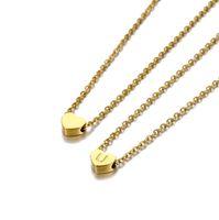 Designer Necklace Hip hop New simple fashion peach heart 26 letters love letter titanium steel wholesale Jewelry Bracelet Designer Rings