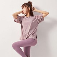 tracksuits sports T-shirt women's short sleeve loose casual shoulder mesh fitness top running fast dry Yoga suit