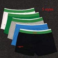 Hommes Sous-potes Lettre Crocodile Imprimer Confortable Hommes Hommes Boxers Solid FishIs 5 Couleurs Style Taille M-XXL Classic Boxer Slips
