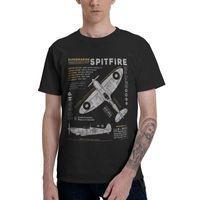 Мужские футболки SURMMARINE SPITFIRE футболка мужская футболка с коротким рукавом хлопковый истребитель самолет военный пилот самолет самолет футболка URBAN TE