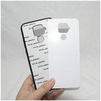Puste Sublimacja 2D TPU + PC Przypadki telefoniczne Twarde Plastikowe Przeniesienie ciepła Drukowanie DIY dla Huawei Mate30 P10 P20 P30 P40 Nova z wkładkami aluminiowymi