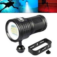 Flashlights Torches SecurityIng Diving 500W Fifteen LED Underwater 80m With Spherical Bracket For Pography Video Fill Light