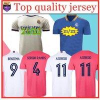 Podsycal Real Madrid maglie 21 22 Camicia da calcio da calcio Haaland Sergio Ramos Benzema Camiseta Men + Kid Kit 2020 2021