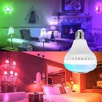 블루투스 전구 스피커 LED 음악 재생 RGB 색상 변경 램프 스테레오 오디오 바 홈 KTV 파티 전구