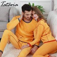 Abito da due pezzi Tataria 2pac biancheria intima termica da donna per le donne inverno caldo vestito lungo Johns vestiti uomini
