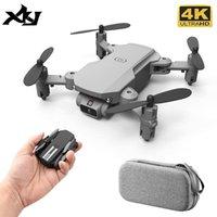 XKJ Mini Drone 4K 1080P 480P Камера RC Складной Quadcopter WiFi FPV Возрождение высоты воздуха Удерживайте черную и серую игрушку Dron для детей