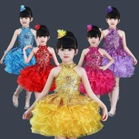 Children Jazz Dance Costumes Sequins Girls Street Show Clothes Kids Hip Hop Stage Dancing Suits Dress For Clothing Sets