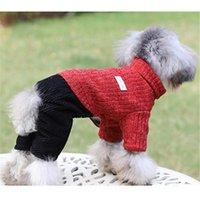Small Dog Costume Puppy Coat Jacket Winter Clothes Four Leg Jumpsuit Warm Pet Outfit Yorkie Pomeranian Poodle Bichon Apparel