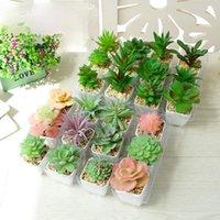 Fleurs décoratives couronnes fausse plante bonsaï artificielle aloès succulents home décoration accessoires mariage