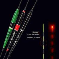 STOOGDEL SMART Рыбалка Светодиодный свет Поплавок светящиеся светящиеся рыбы укус автоматически напоминать электрический буй с аккумуляторными аксессуарами