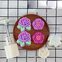 Baking Moulds Grade Hand Pressure Fondant Cake Decorating Tools Candy Rose Cupcake Mold Mooncake Peony Flower For 1 PC