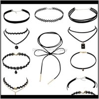 Готический стиль простые американские ювелирные изделия Choker воротник мода набор комбинированные кружева оптом Производители 82VKP Chokers Kwoyg