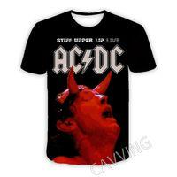 AC DC Band 3D Tryckta Casual Short Sleeves T-shirts för kvinnor / män