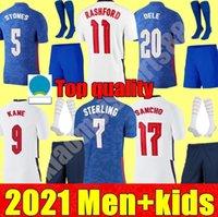 2021 Copa Europeia National Team Homens + Kid Kit Kit Futebol Jerseys Kane Sancho Sancho 20 21 Dele Lingard Rashford Criança Juvenil Camisa de Futebol