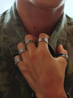 Cluster Rings 2021 Hip Hop Trend 100% Sterling Silver High Quality Men's And Women's Retro